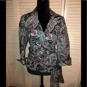 Ann Taylor wrap around blouse